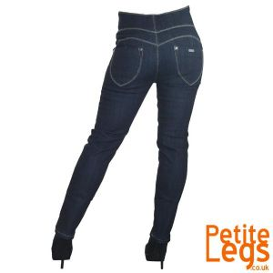 Suzie Slim Straight Leg High Rise Jeans | UK Size 8 | Petite Leg Inseam 25 inches
